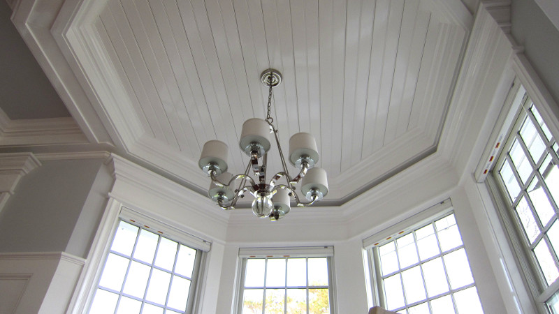 Chatham windows with chandelier
