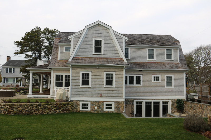 Harwichport Custom Home exterior rear