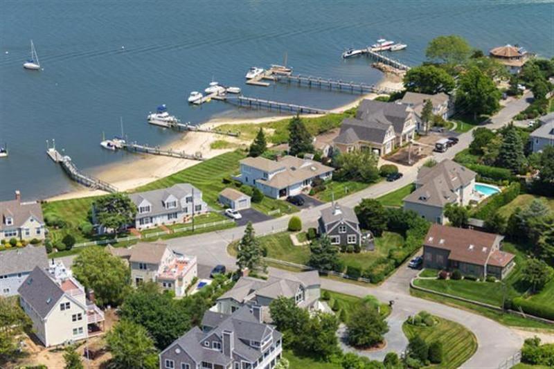 Hyannis Aerial View of Custom Home