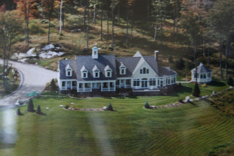 Vermont House aerial view